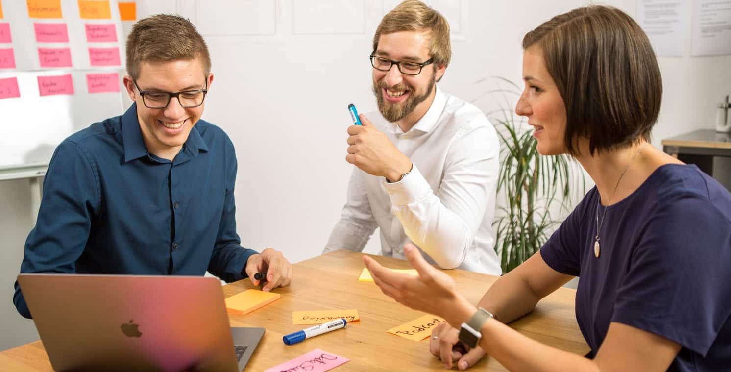 Austausch zum Online Marketing Coaching