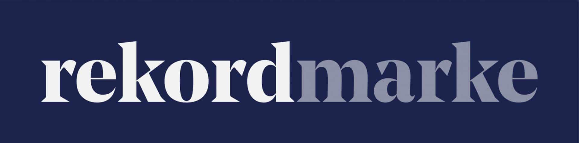 rekordmarke Logo invertiert